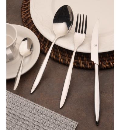 Doce unidades de ROSENHAUS 03090151 Tulip c tenedor mesa acero inoxidable 18/10 4mm 20.3 cm