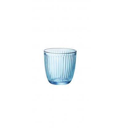 BORMIOLI 580502VNA021990 Vaso bajo azul 8.5x8.5 cm. 29 cl. Line