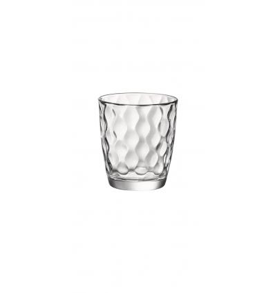 Seis unidades de BORMIOLI 580509BAQ121990 Vaso bajo transparente 9.1x10.2 cm. 38,5 cl. Silk