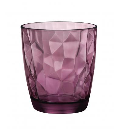 BORMIOLI 350230M02321990 Vaso bajo agua púpura 30.5 cl diamond