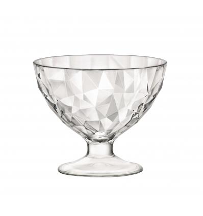 Seis unidades de BORMIOLI 302253M04321990 Copa helado transparente 22 cl diamond