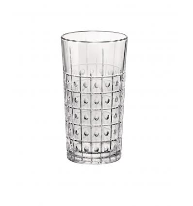 Seis unidades de BORMIOLI 666228BAB121990 Vaso alto transparente 8.4x15.7 cm. 49 cl. Este