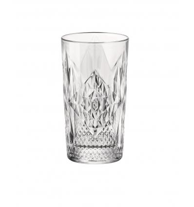 Seis unidades de BORMIOLI 666219BAB121990 Vaso alto transparente 8.4x15.7 cm. 49 cl. Stone