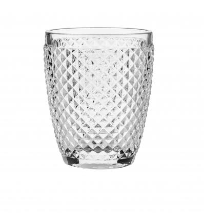Seis unidades de B'GHEST 02490003 Vaso bajo transparente 30cl. Diamante