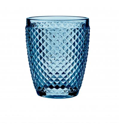 Vaso bajo azul 30cl. Diamante