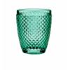 Seis unidades de B'GHEST 02490005 Vaso bajo turquesa 30cl. Diamante