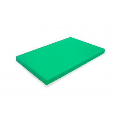 Tabla corte polietileno verde 40x30x2 cm