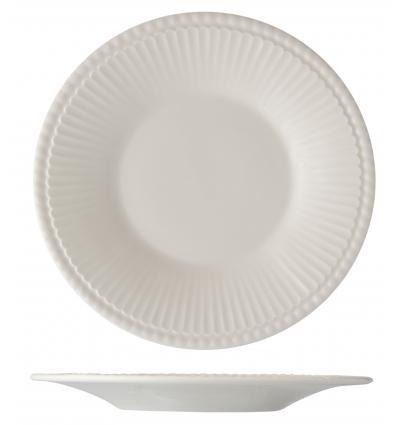 Seis unidades de B'GHEST 01170377 Plato pan con perla 16 cm ayala