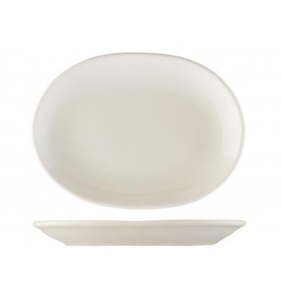 Seis unidades de B'GHEST 01170266 Blanco plato oval 20.5x14.5 cm city