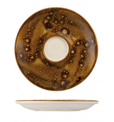 Seis unidades de B'GHEST 01170275 Caramelo plato para taza moka 13 cm city