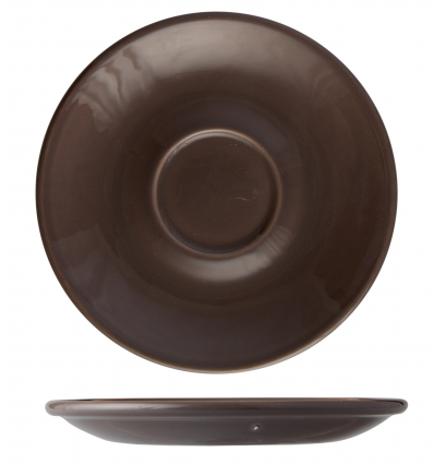 Seis unidades de B'GHEST 01170330 Gris oscuro plato para taza cafe y te 15 cm city