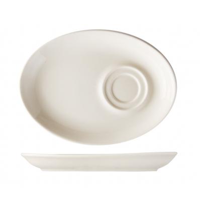 B'GHEST 01170207 Platillo oval para taza 20x15 cm universal