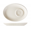 Seis unidades de B'GHEST 01170207 Platillo oval para taza 20x15 cm universal