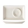 Seis unidades de B'GHEST 01170208 Platillo rectangular para taza 21x13.5 cm universal