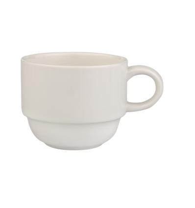 Seis unidades de B'GHEST 01170007 Taza cafe leche apilable 14 cl glubel