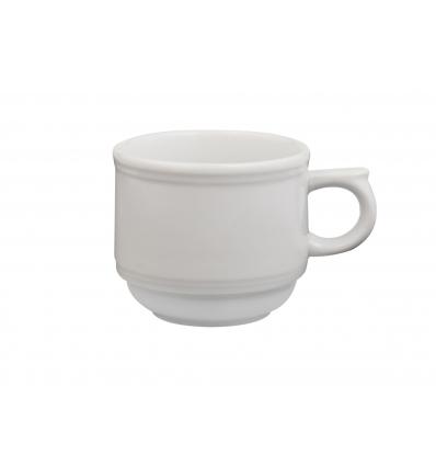 Doce unidades de B'GHEST 01210008 Taza cafe leche apilable 15 cl imperial