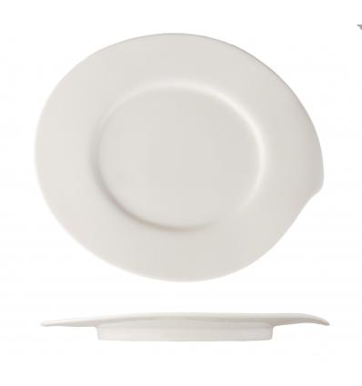 Seis unidades de ROSENHAUS 01010357 Plato oval 23.5 cm atlantic