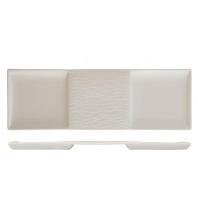 ROSENHAUS 01010395 Plato rectangular 3 compartimentos 33.5 cm atlantic