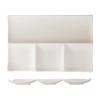 ROSENHAUS 01010403 Plato rectangular 4 compartimentos 30 cm atlantic