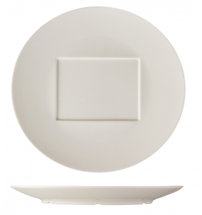 ROSENHAUS 01010404 Plato redondo con interior cuadrado 30 cm atlantic