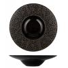 ROSENHAUS 01010409 Plato hondo negro brillo decoracion flores 25 cm atlantic