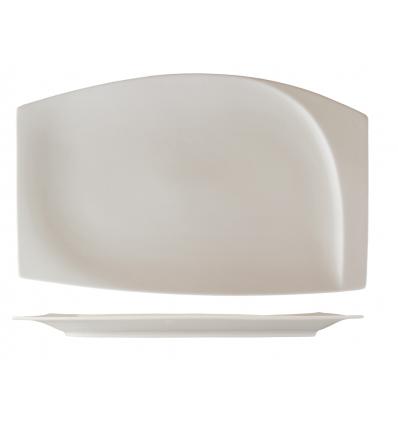 ROSENHAUS 01010416 Plato rectangular con relieve interior 18 cm atlantic