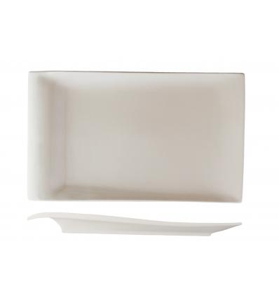 ROSENHAUS 01010440 Plato rectangular con ala relieve 35 cm atlantic