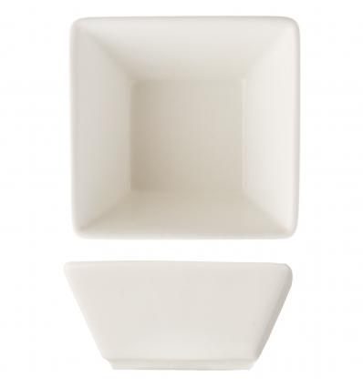 Seis unidades de ROSENHAUS 01010441 Mini bol blanco para salsas 7.5x7.5x4 cm atlantic