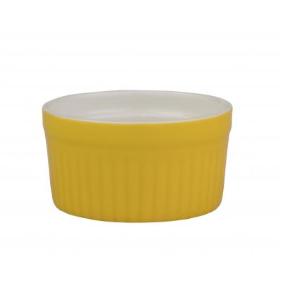 ROSENHAUS 01010445 Ramequin redondo estriado amarillo 8x4 cm atlantic