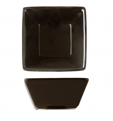 Seis unidades de ROSENHAUS 01010454 Mini bol negro para salsas 7x7 cm atlantic
