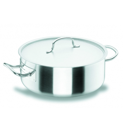 LACOR 50020 Chef classic cacerola baja acero inoxidable con tapa 2.8l ø20x8 cm