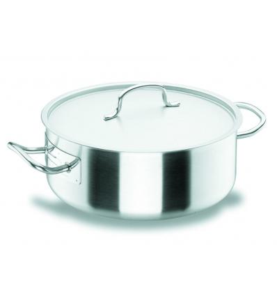 LACOR 50024 Chef classic cacerola baja acero inoxidable con tapa 4.25 l ø24x9.5 cm