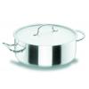 LACOR 50028 Chef classic cacerola baja acero inoxidable con tapa 6.8 l. Ø28x11 cm