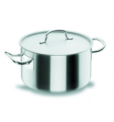 LACOR 50037 Chef classic cacerola alta acero inoxidable con tapa 21.8 l. Ø36x22 cm