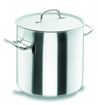 LACOR 50128 Chef classic olla recta acero inoxidable con tapa 17 l. Ø28x28 cm