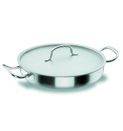 LACOR 50632 Chef classic paellera acero inoxidable con tapa 5 l. Ø32x6 cm