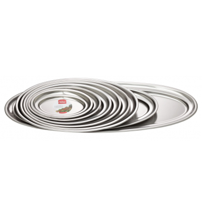 INOXIBAR 59074 Bandeja oval inoxidable 18% 35x23.5 cm