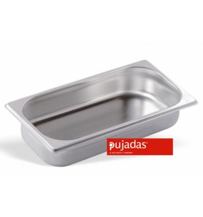 Seis unidades de PUJADAS P131501 Cubeta GN 1/3 profundidad 15 cm inox 18/10 5.6 l.