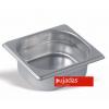 Seis unidades de PUJADAS P161501 Cubeta GN 1/6 profundidad 15 cm inox 18/10 5.6 l.