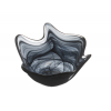 Atlas bol ondulado pequeña decoración alabaster negro 15 cm