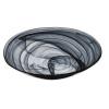 Atlas bol oval transparente alabaster negro 32x21 cm
