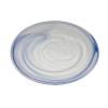 Atlas bajoplato transparente alabaster azul claro ø33 cm