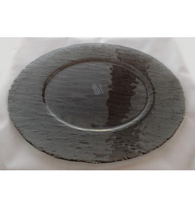 Ramos bajoplato redondo negro transparente ø33 cm