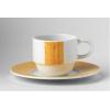 Glubel platillo moka/café amarillo rayado
