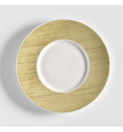 Glubel platillo te/desayuno verde rayado