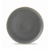 Seis unidades de CHURCHILL EVOGFP251 Granite plato llano redondo 25.2 cm. Evo