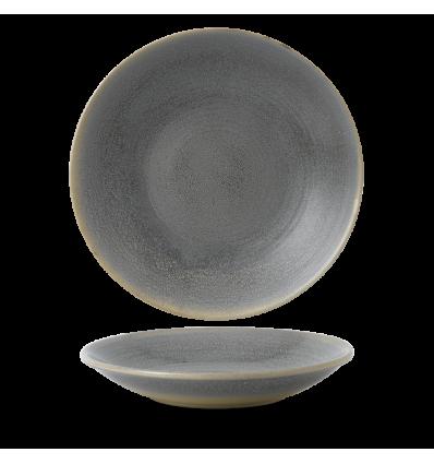 Seis unidades de CHURCHILL EVOGDP291 Granite plato hondo redondo 29.3 cm. Evo