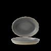 Seis unidades de CHURCHILL EVOGDO261 Granite bowl hondo oval. 26.7x19.7 cm. Evo