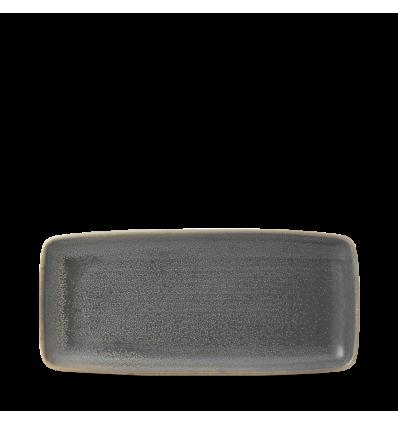 Seis unidades de CHURCHILL EVOGRT271 Evo granite bandeja rectangular 27.2x12.2 cm.