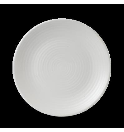 Seis unidades de CHURCHILL EVOPPC221 Pearl plato coupe redondo 22.9 cm. Evo